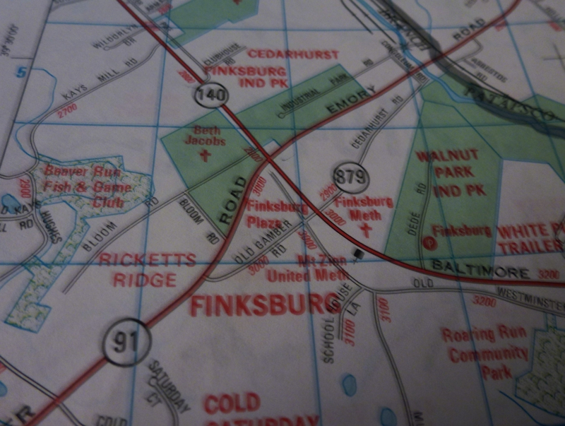 Finksburg map