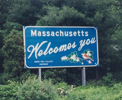 Massachusetts sign