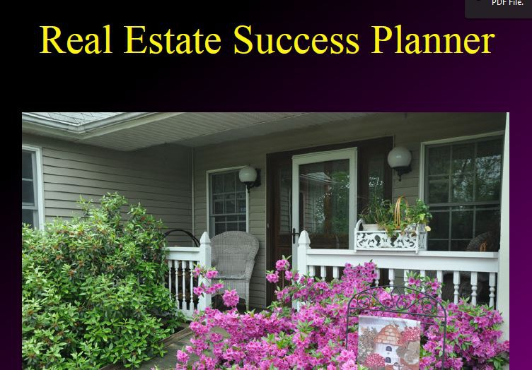 Real Estate Success Planner