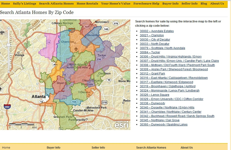 Buckhead Zip Code Map.Zip Code Map Search For Atlanta Mls