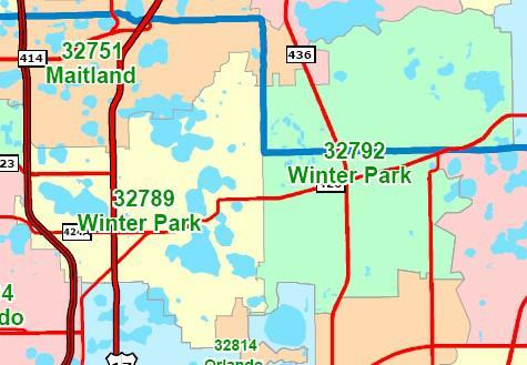 Orlando Florida Zip Code Map.Winter Park Seminole And Orange Counties Fl Market Sales