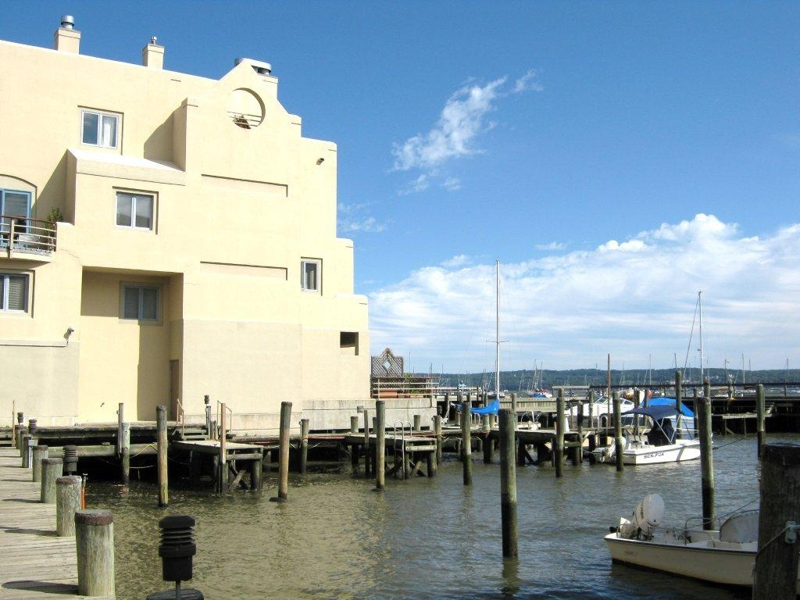 The Clermont condominiums Nyack New York - view of the Hudson and the boat slips