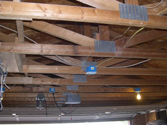 they forgot to finish the garage or did they catch 22 anyone rh activerain com Garage Wiring with Conduit Garage Wiring Basics