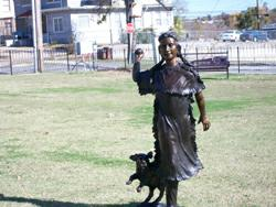Stickball Park: a girl and her dog