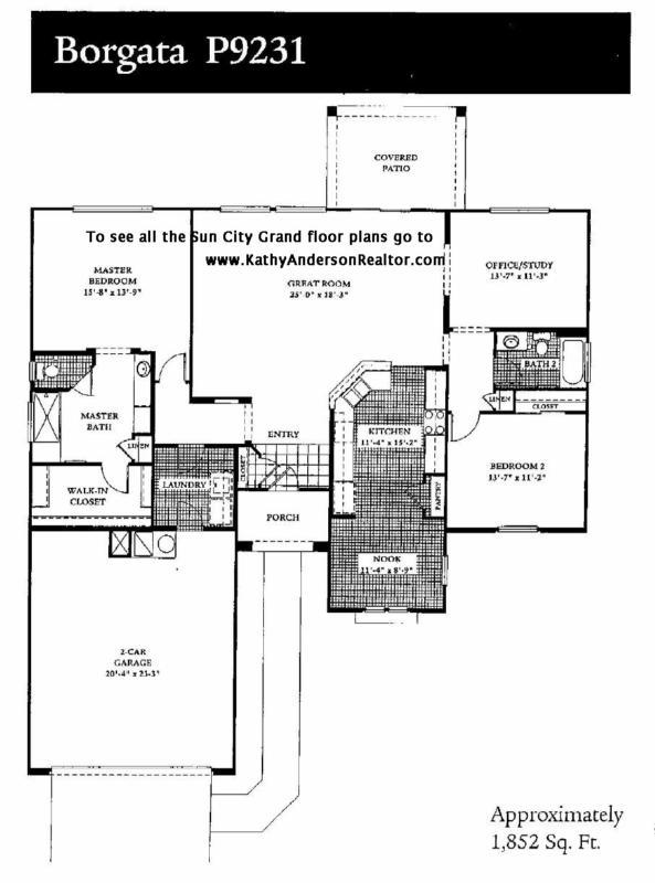 Portrait Of A Popular Sun City Grand Floor Plan The Borgata Why Is It So Popular