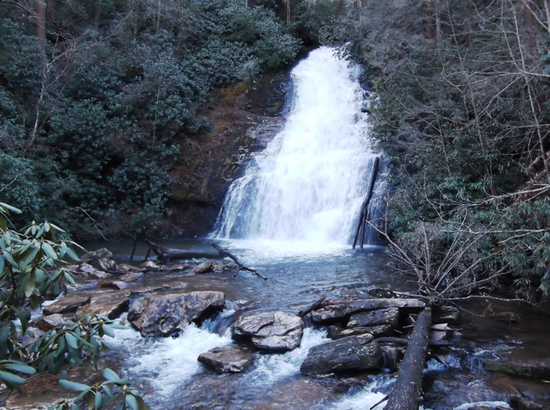 Helton Creek Falls in Blairsville GA