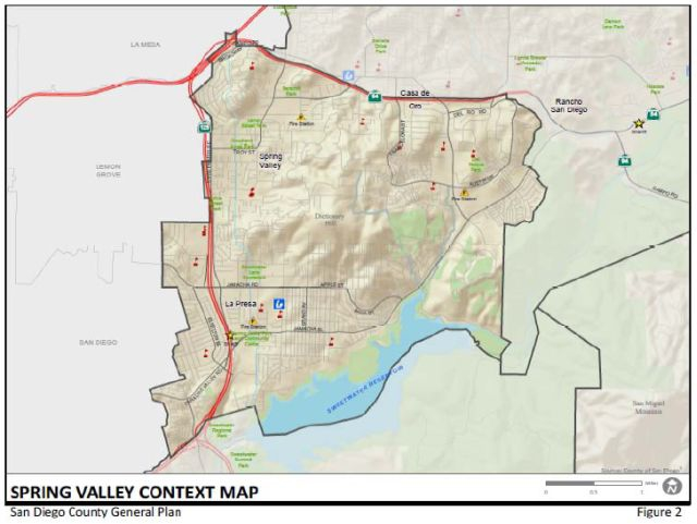 Spring Valley, CA Community Plan Map