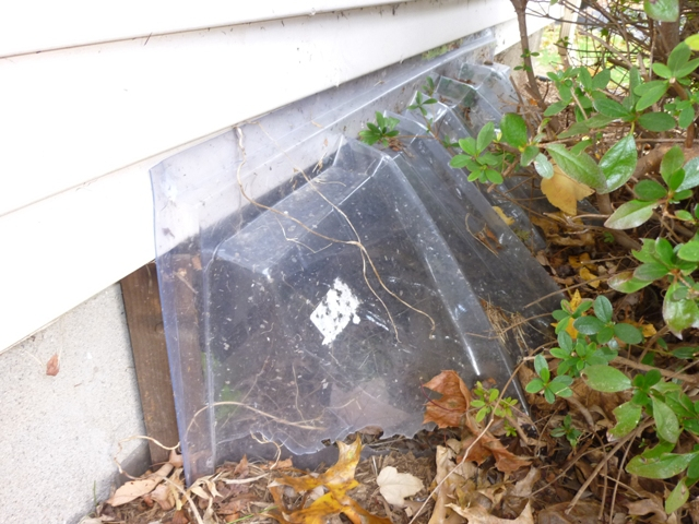 Plastic Covered Window : Another bad use of plastic