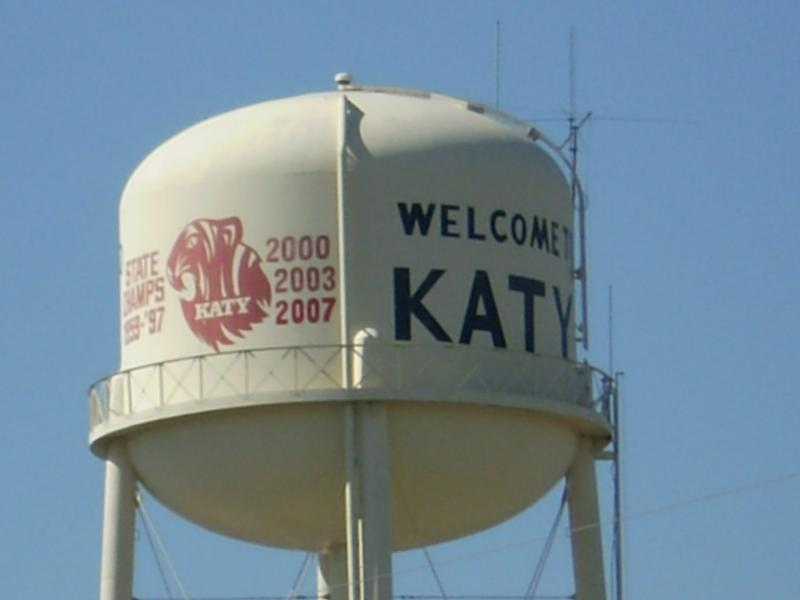 katy texas water tank tower