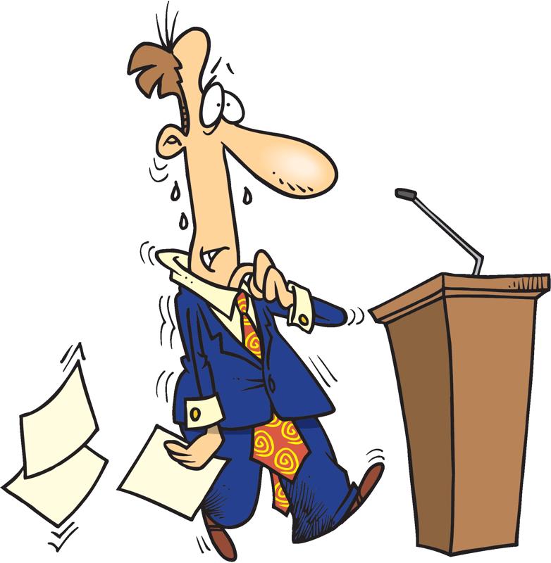 Afraid of public speaking