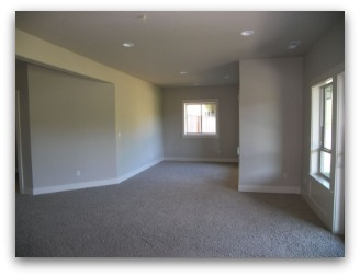 Family Room before Home Staging