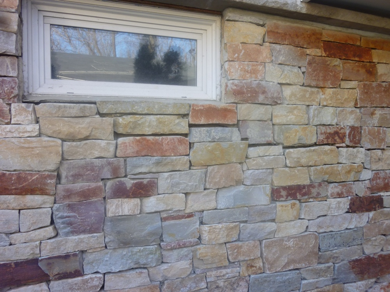 Faux Stone Is Installed With Glue