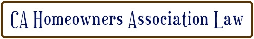 CA homeowners association law