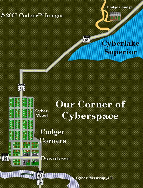 Our Corner of Cyber-space Map Image©