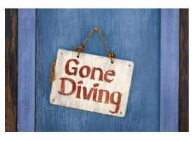 gone diving - fishing