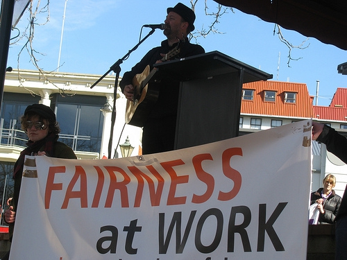 Union workers rally for fairness at work!
