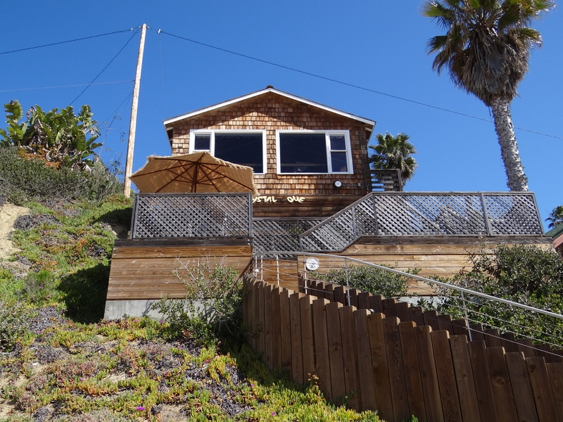 Historic beach cottage at Crystal Cove in Southern California