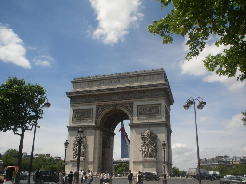 The Arc de Triomphe is one of the most famous monuments in Paris.