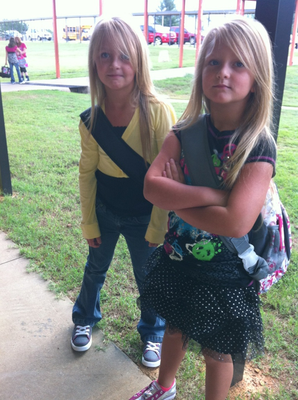 Olivia & Brooklyn - First Day Back to School