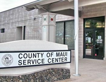 maui county service center in the maui mall
