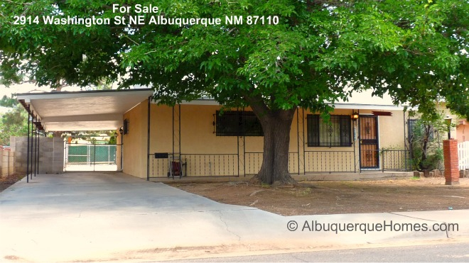 NE Albuquerque Home with Office/ Studio & Workshop For Sale  2914 Washington St NE Albuquerque NM 87110 Realtor John McCormack McCormick Albuquerque Homes Realty