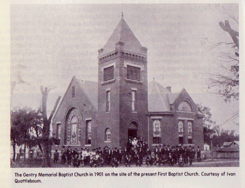 Gentry Baptist Church 1901