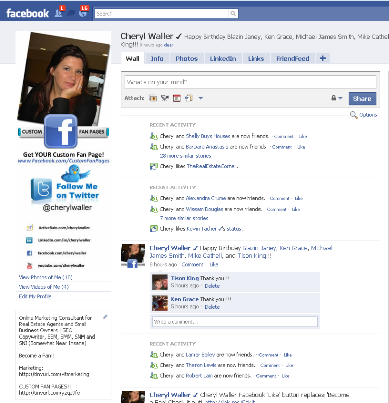 First facebook profile