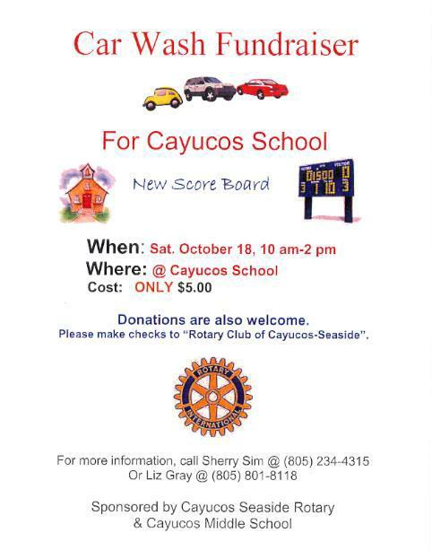 Cayucos Rotary Car Wash Fundraiser