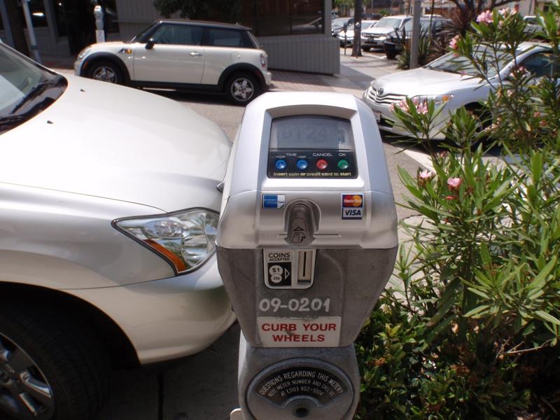 Modern Working Parking Meter in Manhattan Beach by Endre Barath