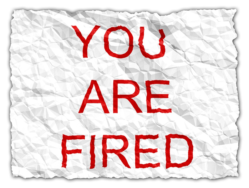 Picture of You are Fired sign