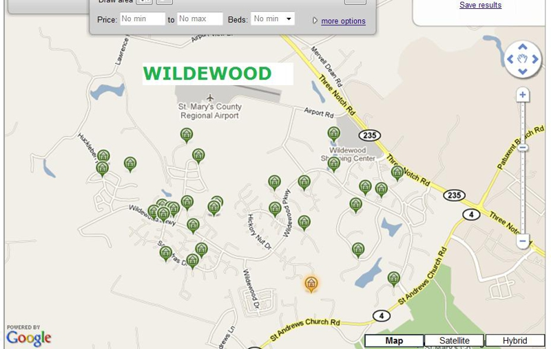 Map Of California Md.Homes For Sale In Wildewood California Md 20619