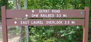 The O&W railbed is a popular trail ride in Big South Fork National Park