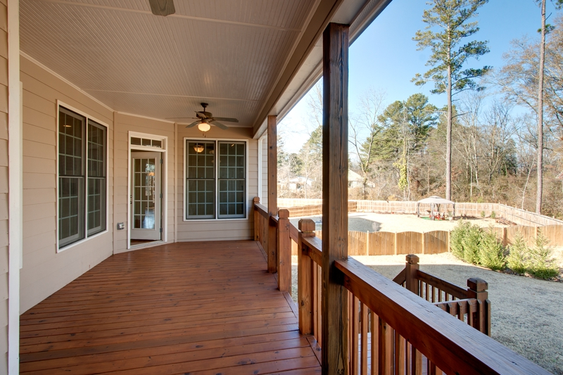 Covered Deck Home Sale Acworth GA Atlanta Real Estate Photography by Iran Watson