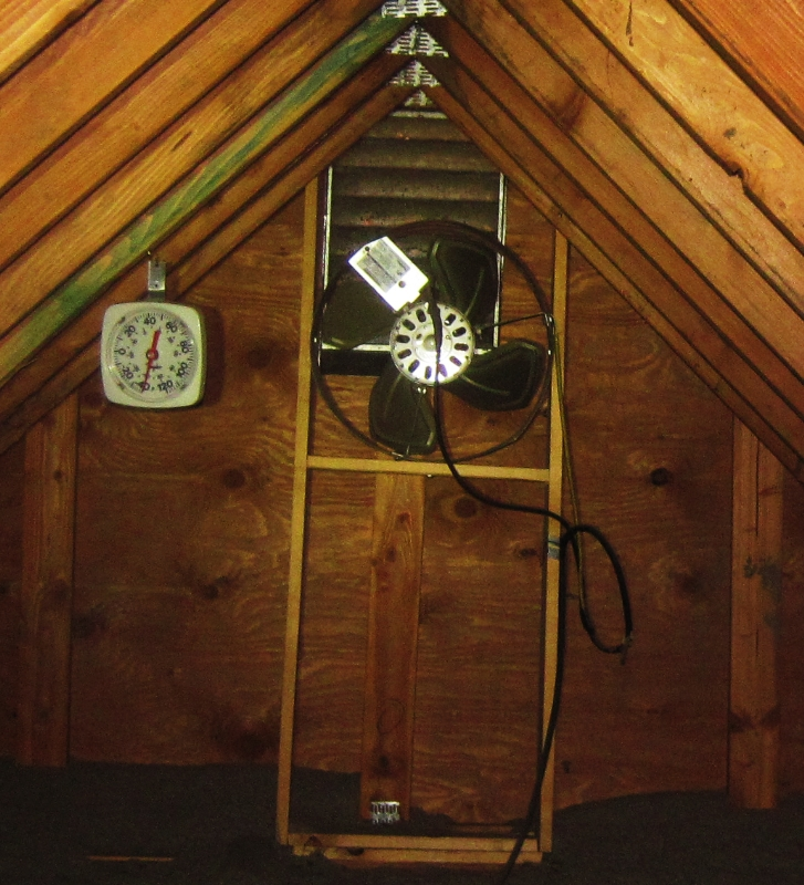 Attic temperature exceeds thermometer