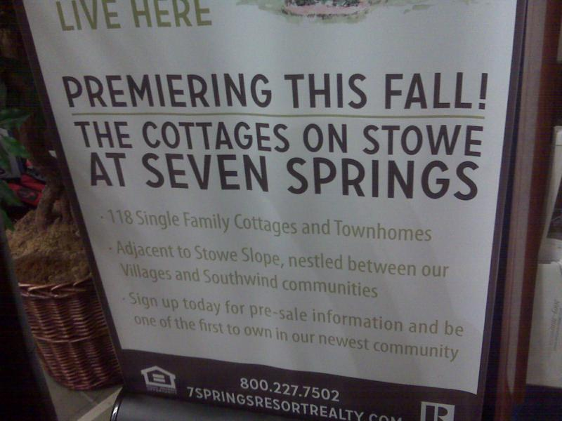 Seven Springs New Community