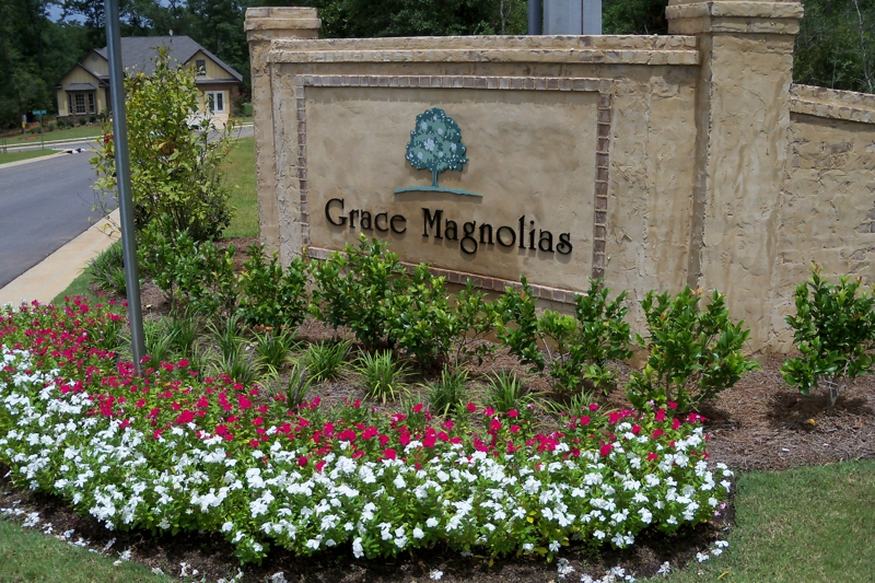 Grace Magnolia Subdivision Entrance in Spanish Fort