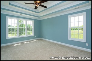 Trey Ceiling Ideas Master Bedroom - New Home Raleigh NC - Home Builders NC