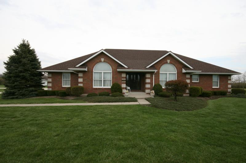 Springboro real estate custom built ranch home on 2 Custom ranch homes