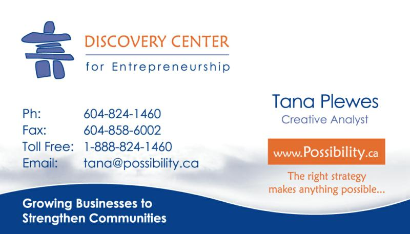 Tana's business card