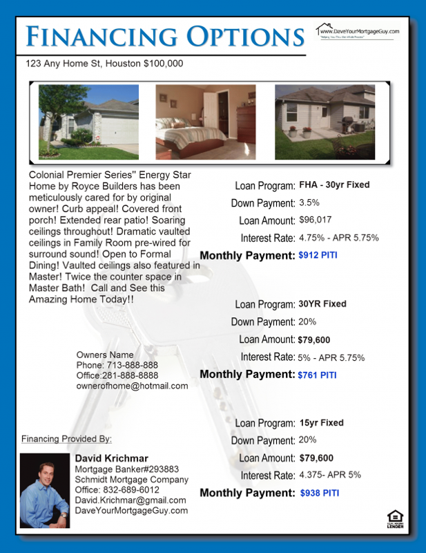 Mortgage Flyers Templates Free Programs Utilities And