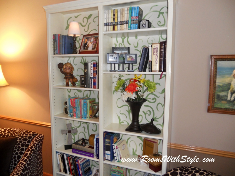 Bookcase Close Up