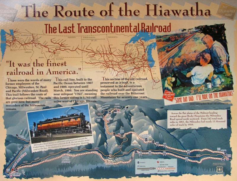 The Route of the Hiawatha - Trail Sign