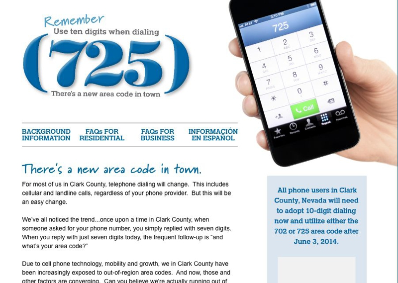Las Vegas Is Getting A New Area Code Las Vegas News - Us area codes cell phone
