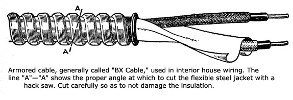 A Little Bs On Bx Cables Armored Or Metal Clad Cables