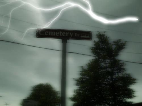 Cemetary Lane sign
