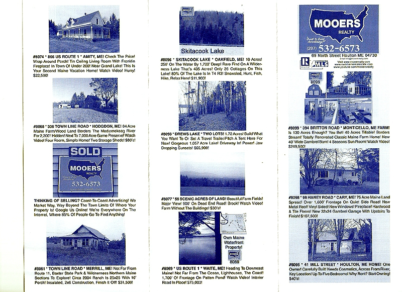 maine property listings brochures