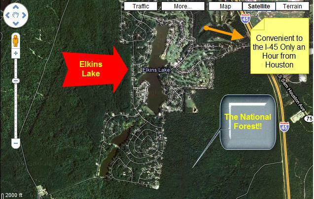Elkins Lake real estate-in  Sam Houston National Forest