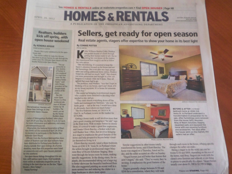 Home staging in Oregon news