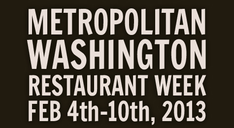 Washington DC Restaurant Week 2013
