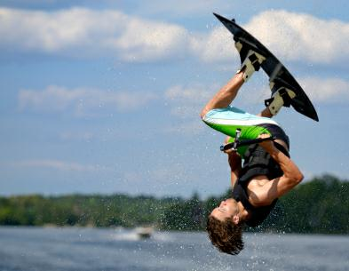 Lake Norman Wakeboarder in mid air~